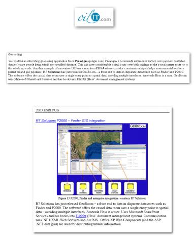 Oil IT Journal Highlights GeoRoom - Finder - P2000 - FileNet Integration